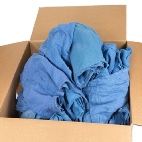 5.5 lb assorted blue huck towels box wipers window cleaning cloths low lint