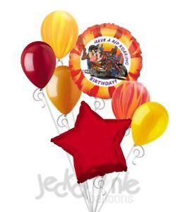 Details About 7 Pc Looney Tunes Rip Roarin Taz Balloon Bouquet Party Decoration Happy Birthday