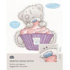 DMC Me to You Tatty Teddy Printed Cross Stitch Fabric Kit - Cupcake