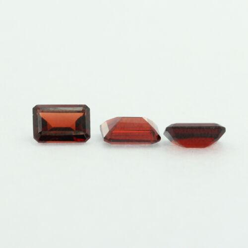 Loose Emerald Cut Genuine Natural Garnet Stone Single Almandine Red Birthstone