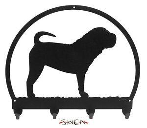 SWEN Products PBGV Dog Black Metal Key Chain Holder Hanger