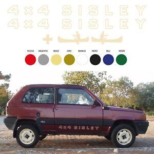 Adesivi-Panda-4X4-SISLEY-piu-2-CANOE-scritte-per-sottoporta-stickers-sportelli