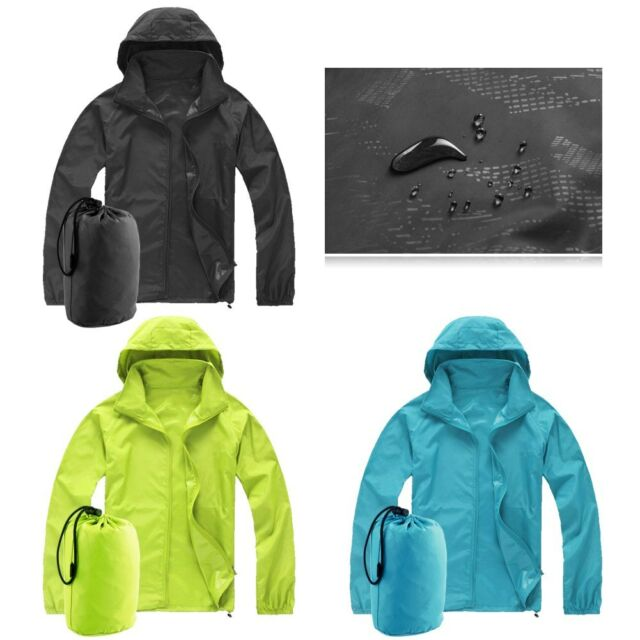Waterproof Windproof Jacket Mens Ladies Womens Lightweight Rain Coat Outdoor