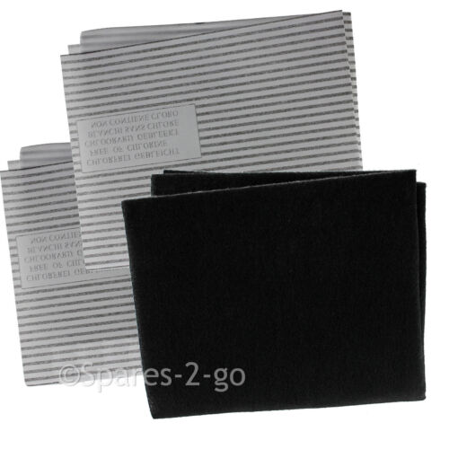 Cappa filtri Kit per CDA ESTRATTORE VENTOLA VENTILAZIONE carbonio filtro del grasso
