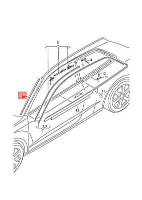 Genuine Satin black water deflector strip AUDI 8P0854328B01C