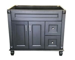Bathroom Vanity Base Cabinets.Details About New Carbon Metallic Single Bathroom Vanity Base Cabinet 36 W X 21 D X 32 H