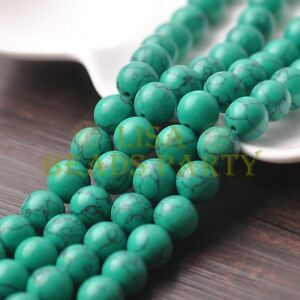 10pcs-12mm-Round-Natural-Stone-Loose-Gemstone-Beads-Green-Turquoise