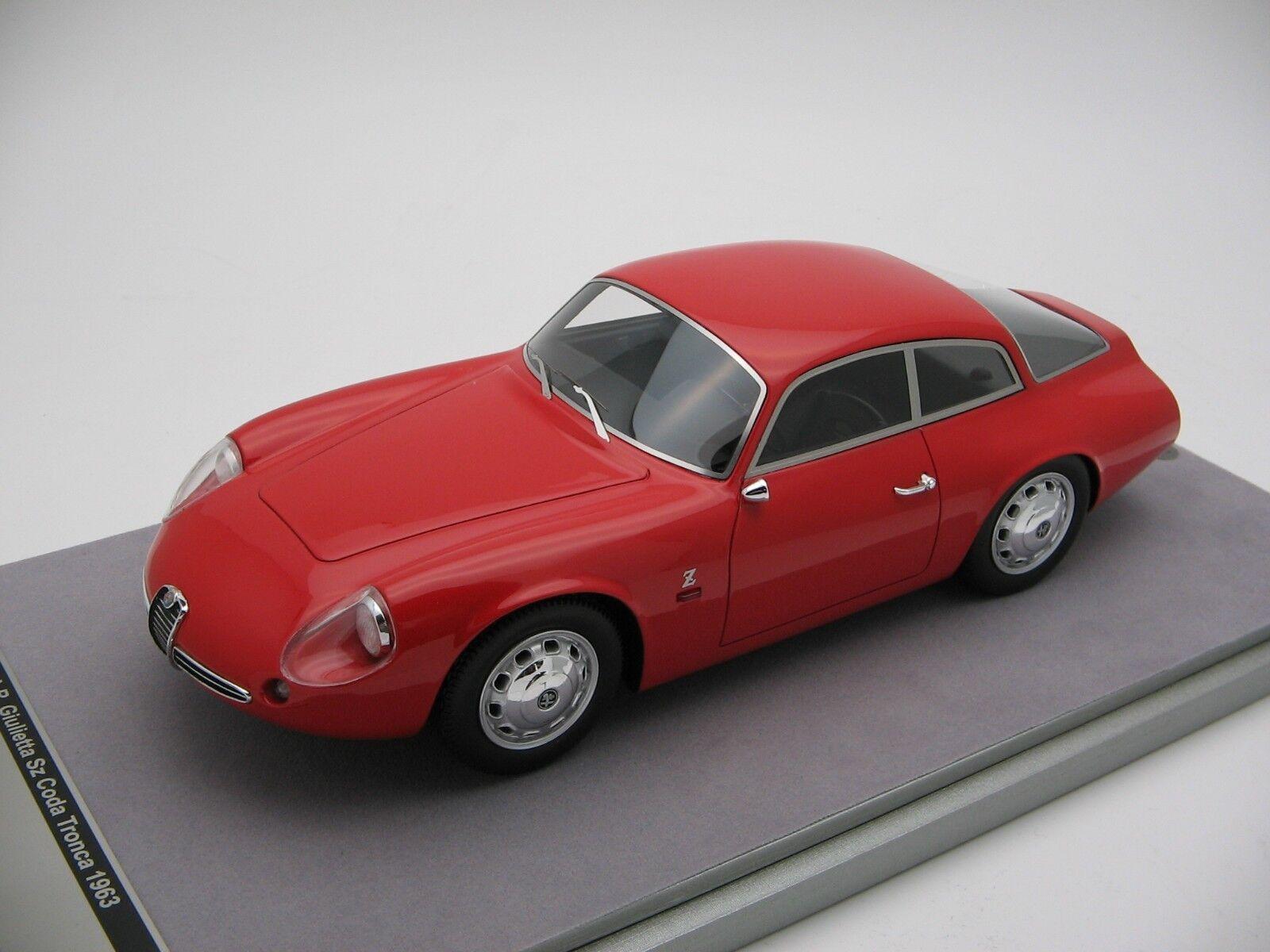 1 18 scale Tecnomodellolo Alfa Romeo SZ Coda Tronca press Rosso Alfa 1963 - TM18-71A