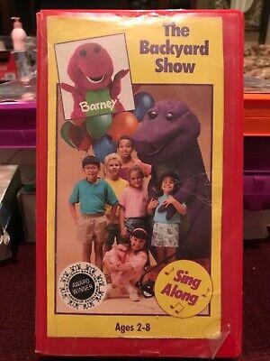 BARNEY'S THE BACKYARD SHOW VHS VIDEO TAPE RARE EDITION ...