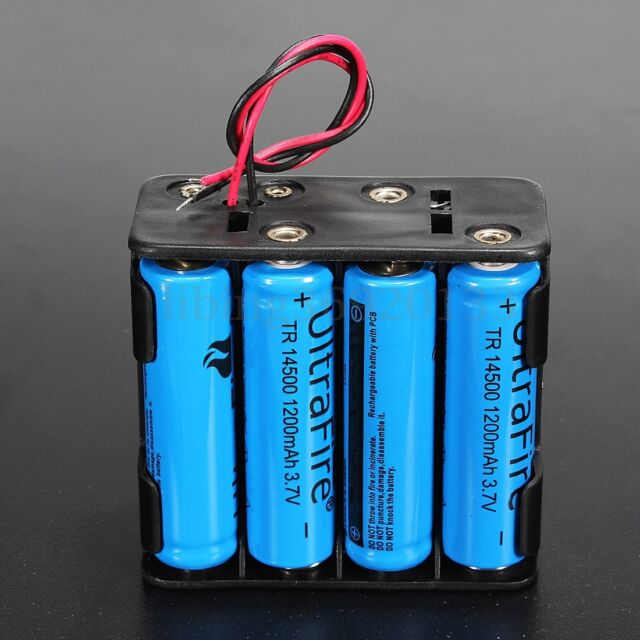 12V Plastic Battery Holder Box Storage Case For 8Pc AA Batteries Wire Leads AU