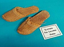 Beautiful Antique Korean Korea Slippers for Children Shoes 1880