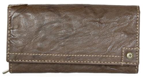Worldwide delivery. Women/'s Natural glacé marron foncé en cuir véritable portefeuille