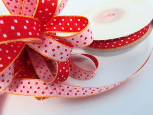 "10 yards Double Sided Woven Grosgrain Polka Dot 3//8/"" Ribbon//Craft R55-Pick Color"