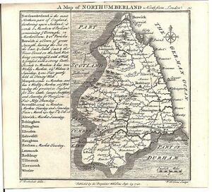 Antique-map-Northumberland