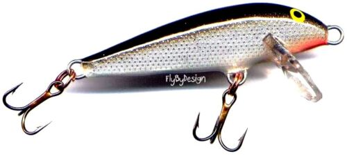 NEW Vintage Rapala Silver CountDown Sinking Fishing Lure Made in Finland