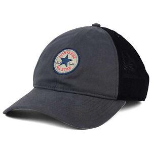 7c26aea09cf Converse Washed Trucker Hat Cap Chuck Taylor All Star Snapback Gray ...