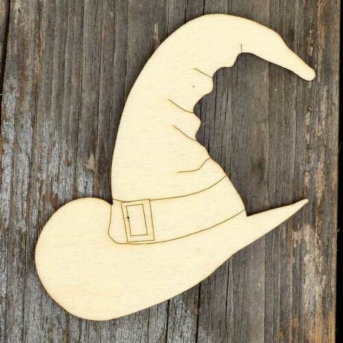 10x Wooden Witches Hat Traditional Craft Shapes 3mm Plywood