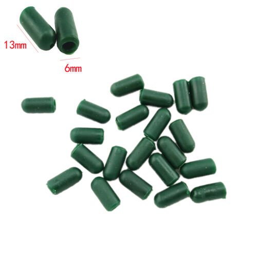 100pcs 13mm Tail Rubber Cone Tube Beads for Safety Carp Fishing Lead Clips 0cn
