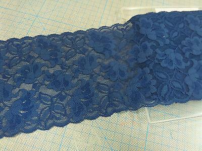 4,5 Meter Spitzenband Spitzenborte 25-35mm breit elastische Spitze Polyester