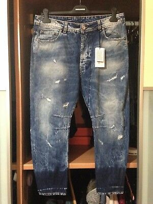 Jeans Uomo Genius Made In Italy 34 Stonewashed Destroyed Mod.diesel Narrot Ricco Di Splendore Poetico E Pittorico