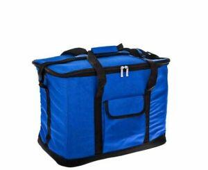 34 Litre Strong Large Cooler Bag Picnic Insulated Freezer Bag Blue