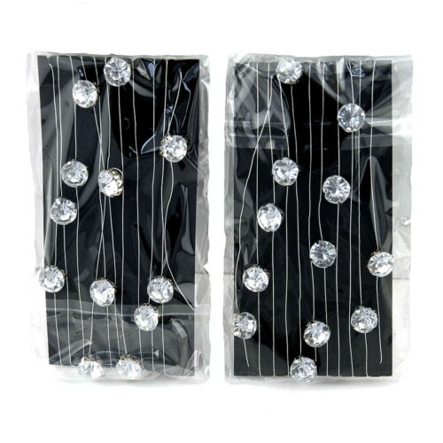 D 8mm !!! 2x 2 Meter Diamanten-Girlande mit 23 künstlichen Steinen