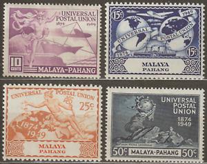 MALAYSIA-MALAYA-PAHANG-1949-UPU-SET-4V-MH-CAT-RM-17