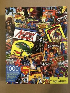 Aquarius-Puzzles-DC-Comics-Superman-Comic-Collage-1000-Piece-Puzzle-Sealed