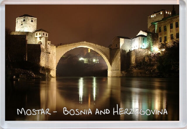 Mostar Bridge -  Bosnia and Herzegovina - Fridge Magnet - Gift Present