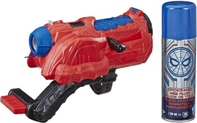 Spider-Man: Far from Home Web Cyclone Blaster with Web Fluid Roleplay Kid Toy