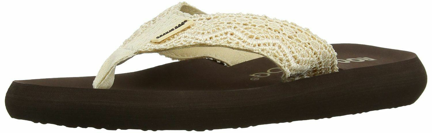 Rocket Dog Spotlight Beige Flip Brown Womens Summer Beach Flip Beige Flops d31762