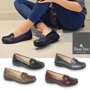 Femme-Mocassins-Peau-de-Serpent-Mocassins-Escarpins-Causal-Chaussures-Taille-3-4-5-6-7-8
