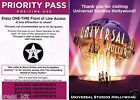 2 NEW Universal Studios Hollywood Front of the Line Priority Passes GATE A