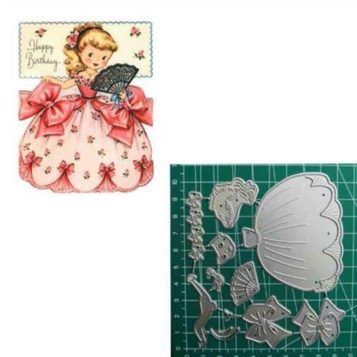 Princess Girl Metal Cutting Dies Scrapbooking Decorations Craft Stencils Plsei