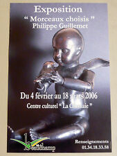 GUILLEMET Philippe Affiche originale Sculpture Angelot Ange Enfant Bronze 2006