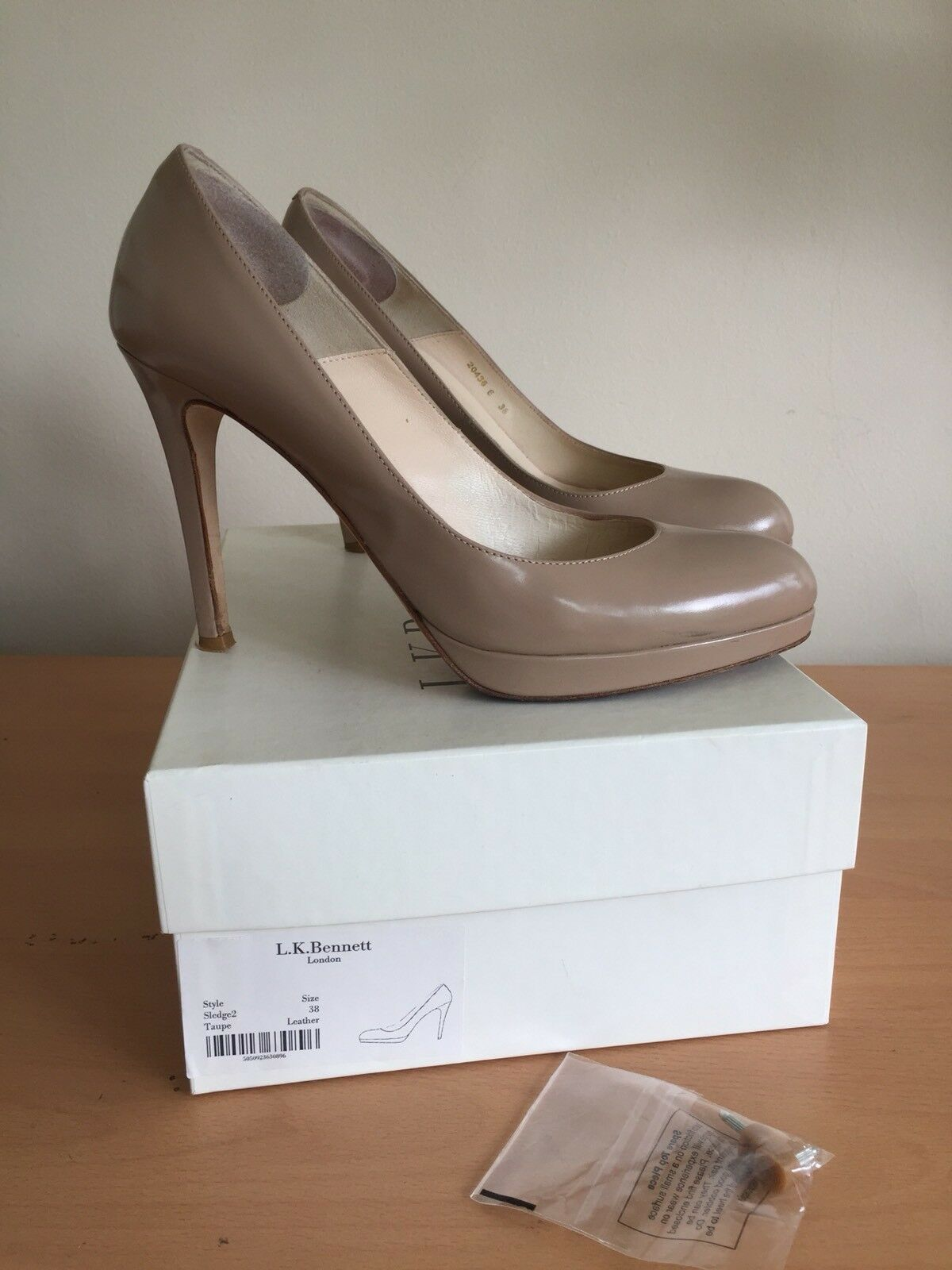 Lk Bennett 38, Uk 5 Duchess Beige, Nude Heels, As Seen On Duchess 5  Fab 0b5d7e