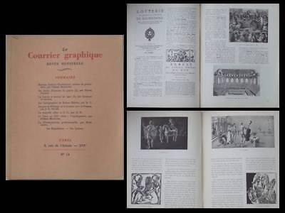 Ordelijk Le Courrier Graphique N°14 1938 Mariano Andreu, Loterie, Robert Mahias, Bellange