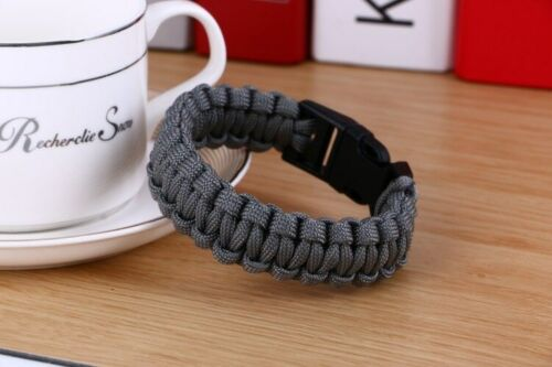 Survival Paracord Bracelet Mens Outdoor Wristband Camping Hiking Accessories New
