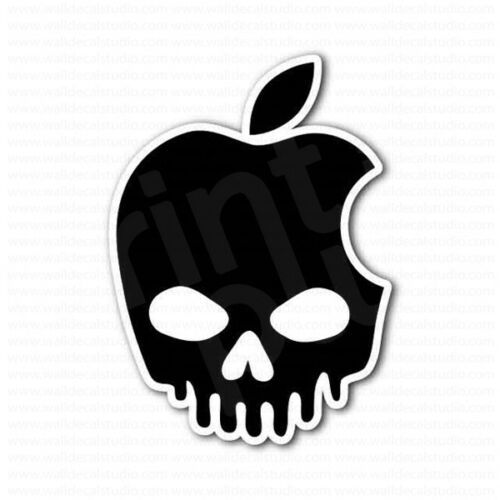 Apple Dripped Skull Sticker