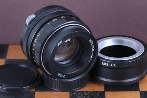 Helios-44-M-58-mm-f2-Portrait-BOKEH-objectif-Zenit-DSLR-M42-moun-FujiFilm-FX-Adaptateur
