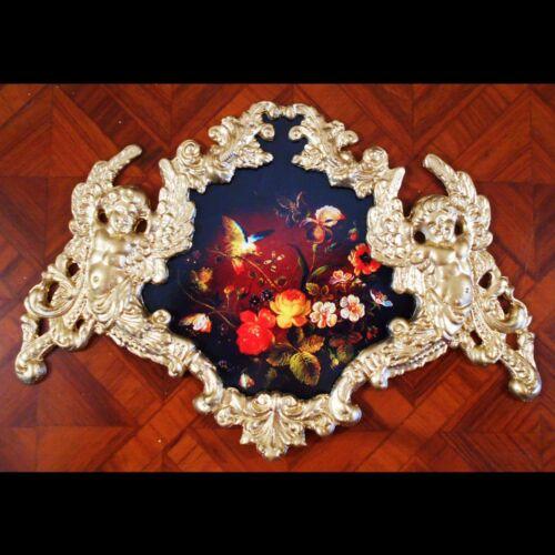 Flowers and bird Faux ormolu.Furniture mounts//decor. Palech Russian Art