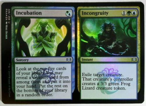 Incongruity Near Mint Magic standard Ravnica Allegiance RNA 1x FOIL Incubation