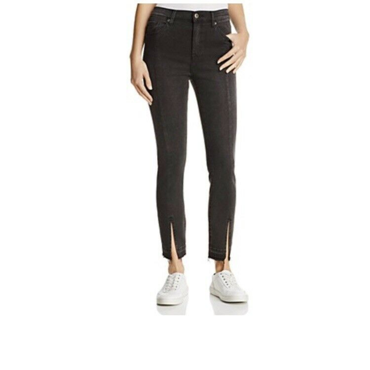 """Pistola  Women's Monroe Seamed Cropped Skinny High Rise Jeans  26"""" Retail"""