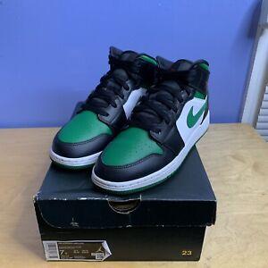 Air-Jordan-1-Mid-Green-Toe-Size-7-Y-554725-067-Youth-Gym-Red-Pine-Black