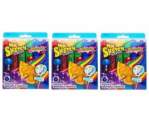 Mr. Sketch Scented Washable Markers, Chisel-Tip, (3 Packs) (18 Total Markers)