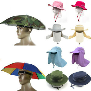 Bush Boonie Jungle Fishing Hat Sun Protection Neck Face Flap Cover ... bc027afab95