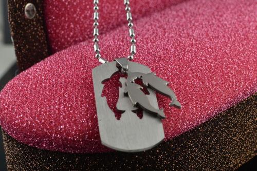 argent Chaînes 12 Zodiac Signes collier pendentif bon teint Long en acier inoxydable