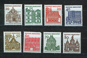 ALEMANIA-RFA-WEST-GERMANY-1964-MNH-SC-903-912-Castles-and-Buildings