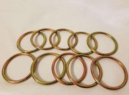 "Lot of 10 Gold Metal Brass Macrame Plant Hanger Craft Rings 1-3//4/"" Inch Diameter"
