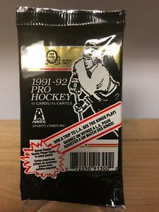 SUPER-RARE-1991-92-OPC-ARKTOS-UNOPENED-PACK-O-PEE-CHEE-CLASSIC-ROOKIE-CHANCE